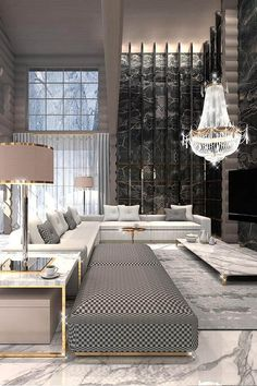 Constantine Frolov Interior Designer Luxurious Living Room Designed by Constantin Frolov . outdoorfurniture : Constantine Frolov Interior Designer Luxurious Living Room Designed by Constantin Frolov . Luxury Home Decor, Luxury Interior Design, Residential Interior Design, Residential Architecture, Best Interior, Chandelier In Living Room, Living Room Decor, Bedroom Decor, Luxury Chandelier
