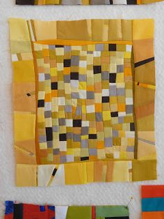 Wow, three days of quilters / artists in the house and the ideas just started flowing. Gwen was under the weather the first day. House Quilts, Baby Quilts, Scrap Quilt Patterns, Small Study, Strip Quilts, Color Studies, Small Quilts, Three Days, Textile Art