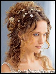 Apr 2019 - Curly wedding hair ideas to find your favorite looks for you, your . An oversized flower crown pairs well with this bohemian brides dark curly hair. See more ideas about Curly wedding hair, Wedding hairstyles and Dark curly hair. Curly Hair Styles, Long Curly Hair, Natural Hair Styles, Long Curly Wedding Hair, Thin Hair, Wedding Hairstyles For Long Hair, Modern Hairstyles, Beach Hairstyles, Greek Hairstyles