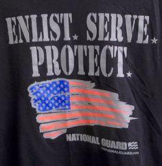 National Guard Enlist. Serve. Protect. T-Shirt Adult L Large