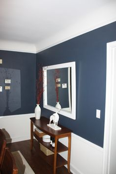 BM Navy Hale - dining room color idea