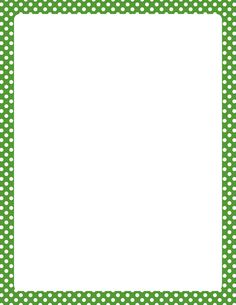 Printable green and white polka dot border. Free GIF, JPG, PDF, and PNG downloads at http://pageborders.org/download/green-and-white-polka-dot-border/. EPS and AI versions are also available.