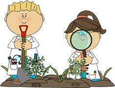 Science Kids Examining Plants - Revamp Digging for God's Word or Exploring Social Studies