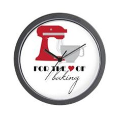 Love Of Baking Wall Clock on CafePress.com