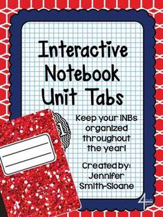 Ready to stay organized in your Interactive Notebook? Grab these FREEBIE Unit Tabs for Interactive Notebooks so that you can easily find each unit that you teach!