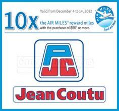 Jean Coutu Canada Coupon: 10X The Air Miles WUS $50! - Canadian Savers