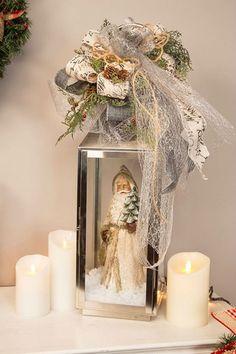 santa lantern     DIY Christmas Lanterns Ideas To Brighten Up Your Home