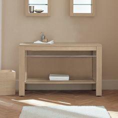 1200 Vanity Table Light Oak