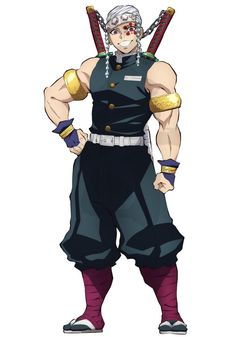 Tengen Uzui-Kimetsu no Yaiba All Anime, Manga Anime, Anime Art, Demon Slayer, Slayer Anime, Demon Hunter, Manga Boy, Anime Demon, Anime Characters