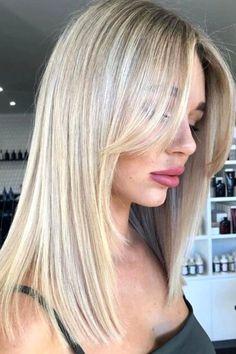 Blonde Hair With Bangs, Bangs With Medium Hair, Blonde Hair Looks, Medium Hair Styles, Short Hair Styles, Blonde Fringe Hairstyles, Blonde Hair Styles Medium Length, Blonde Straight Hair, Long Hairstyles With Bangs