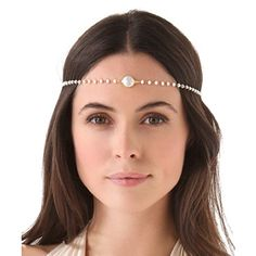 Romantic Pearl Headpiece Pearl Birthday Party, Pearl Headpiece, Head Accessories, How To Look Pretty, Wedding Hairstyles, Bangles, Romantic, Chain, Womens Fashion
