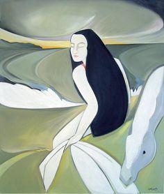The White Waves by Syra Larkin on ArtClick.ie Irish Art Mythology Irish Art, Inspiring Art, Daydream, Mythology, Ireland, Aurora Sleeping Beauty, Waves, Board, Artist
