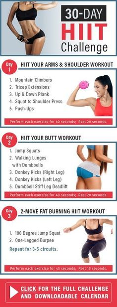Take your workout to a whole new level, do this 30-day HIIT challenge. The workouts target your whole body, so you know you'll be working toward a head-to-toe transformation. #workout #HIIT #challenge | www.skinnyms.com