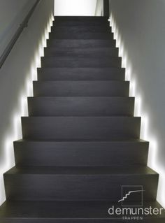 Today's emphasis? The stairs! Here are 26 inspiring ideas for decorating your stairs tag: Painted Staircase Ideas, Light for Stairways, interior stairway lighting ideas, staircase wall lighting. Staircase Lighting Ideas, Stairway Lighting, Staircase Design, Open Staircase, Ceiling Lighting, Basement Stairs, House Stairs, Open Basement, Basement Ideas