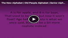 The New Alphabet | Senior Alphabet | Old People Alphabet | MichaelWilliams67 - http://michaelwilliams67.com/the-new-alphabet-post/