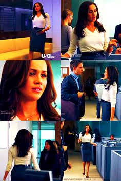 Outfits of Rachel Zane (played by Meghan Markle) on SUITS