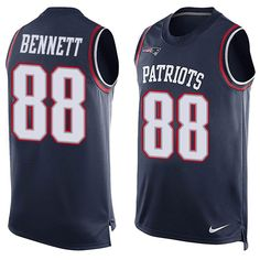 Nike New England Patriots Men's #88 Martellus Bennett Limited Navy Blue Player Name & Number Tank Top NFL Jersey