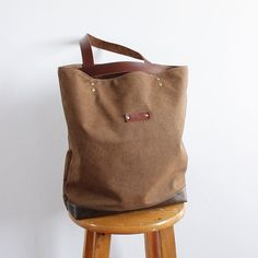 5fed60c818c3 Handmade Canvas Designer Tote Handbag Shopper Bag School Bag SB05 Big Tote  Bags