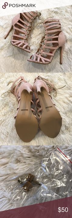 Lace-Up Caged Single Sole Heels Item: Lace-Up Caged Single Sole Heels  Color: Nude/Pink (size is 10 but they fit small, I'm normally size 9 and these fit me perfectly)   ❌ NO TRADES!  ❌ Price is FIRM unless bundled.   ⬇️✨⬇️✨⬇️✨⬇️✨⬇️✨⬇️✨⬇️✨⬇️ Listing prices are based on what I paid for each item. Lowball offers will be ignored and deleted. Users with unnecessary comments will be blocked!  ⬆️✨⬆️✨⬆️✨⬆️✨⬆️✨⬆️✨⬆️✨⬆️  Related: Lulu's, Heels, Pumps, Sandals, Just Fab, Laced, Suede, Follow Me…