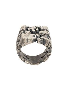 bab3d58d2270 Shop Tobias Wistisen Broken glass chevaliere ring Designer Jewelry Brands