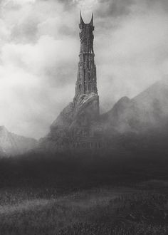Barad-dûr: built by Sauron with the power of the One Ring, during the Second Age. The building took six hundred years to complete; it was the greatest fortress ever built since the Fall of Angband, and much of Sauron's personal power went into it. Jrr Tolkien, Gandalf, Legolas, Fellowship Of The Ring, Lord Of The Rings, Barad Dur, John Howe, Shadow Of Mordor, Between Two Worlds