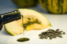Dear Men and Women, Want to Live Longer and Look Good While At It? Then You Might Add Pumpkin Seed Oil to Your Daily Routine. Here Are Top 5 Health and Beauty Benefits of Pumpkin Seed Oil. Best Pumpkin, Healthy Pumpkin, Austria Food, Austrian Recipes, Pumpkin Seed Oil, Cosmetics Ingredients, Alternative Health, Coco, Cleanse