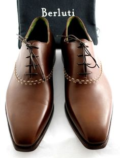 NEW! BERLUTI Demesures Handmade Brown Venezia Leather Oxford UK 11.5 #Berluti #Laceup