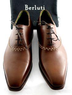 NEW! BERLUTI Demesures Handmade Brown Venezia Leather Oxford UK 11.5 #Berluti #Laceup