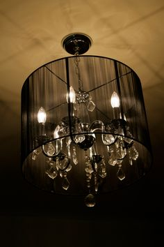 My lovely chandelier in my master bedroom