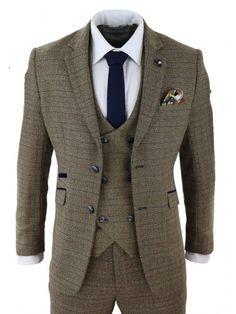 truclothing.com Herrenanzug 3 Teilig Marineblau Tailored Fit 1920 Gatsby Peaky Blinders Stil