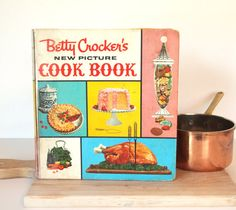 Vintage Betty Crocker Cookbook New Picture Cook  book Binder Version - Mid Century Cooking Kitchen Recipes  by cocoskitchen