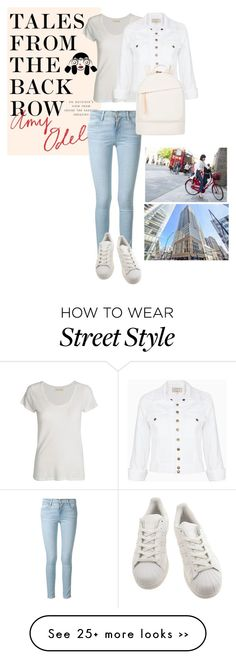 """street style"" by smilosevic on Polyvore featuring Frame Denim, American Vintage, adidas, Current/Elliott, Want Les Essentiels de la Vie, StreetStyle and talesfromthebackrow"
