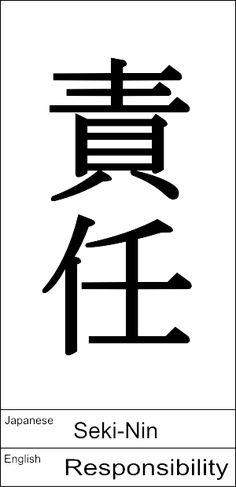 Japanese : Seki-Nin / English : Responsibility