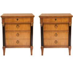 Pair of 1960's Baker Neoclassical End Tables | From a unique collection of antique and modern night stands at http://www.1stdibs.com/furniture/tables/night-stands/