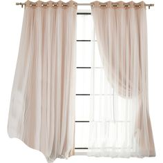 Braswell Curtain Panels Reviews (€68) ❤ liked on Polyvore featuring home, home decor, window treatments, curtains, room, windows, window coverings, window curtain panels, window drapery and window curtains