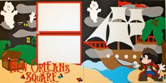 Disneyland New Orleans Square Premade Layout by StinknCuteCrafts, $24.99