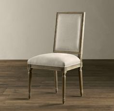 Vintage French Square Upholstered Side Chair - traditional - dining chairs and benches - Restoration Hardware