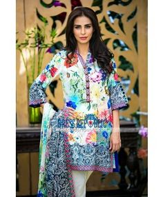 Pakistani Lawn Clothes for Eid by Mausummery 2015
