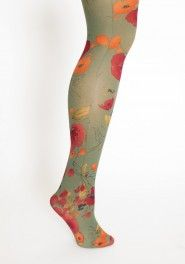 floral tights. love