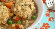 This vegan dumpling stew is incredible. Big hearty dumplings and a stew filled with tons of flavor and all your favorite veggies. Easy to make too! Stew And Dumplings, Vegetable Dumplings, Vegan Dumplings, Vegetable Stew, Making Dumplings, Veg Stew, Dumpling Recipe, Whole Food Recipes, Soup Recipes
