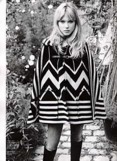 Totally into this 1970's look.  Easy but gorgeous.
