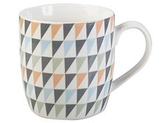 Creative Tops Everyday Home Geometric Triangle Barrel Mug, Multicoloured