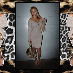 Curvy: Beyonce slipped into a formfitting off-the-shoulder taupe dress, which displayed every inch of her curvy derriere Beyonce Show, Beyonce And Jay Z, Taupe Dress, White Dress, Beyonce Instagram, Instagram Posts, Metallic Hair Dye, Beyonce Knowles Carter, Post Baby Body