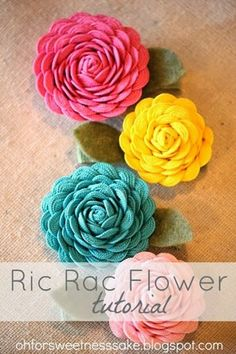 Spring Ric Rac Flower Tutorial