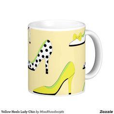 Yellow Heels Lady Chic Coffee Mug