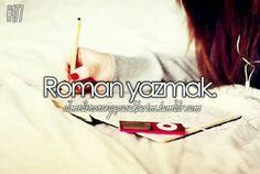 Roman yazmak.