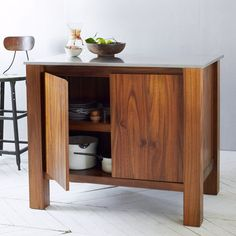 Rustic Kitchen Island with Doors West Elm