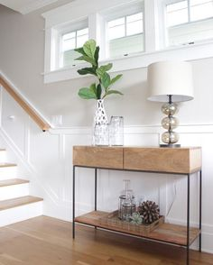 Sleek and industrial this console table would be great in so many rooms!  Of course @lauralochrininteriors styled this one perfectly.  We found it for just over $100 in this #dailyfind!  http://ift.tt/2yMN9Hy #CopyCatChic