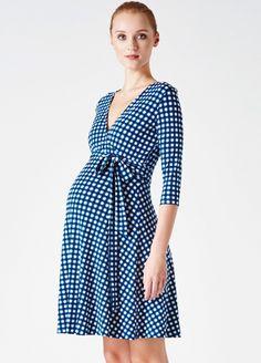 ba6672c79ace4 Leota - Marine Gingham Perfect Wrap Mini Dress. Pregnancy Wear, Pregnancy  Fashion, Maternity Nursing ...