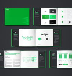 New Logo and Identity for Edge Hosting by Necon Brand Guide, Brand Style Guide, Brand Identity Design, Branding Design, Identity Branding, Corporate Identity, Visual Identity, Branding Ideas, Corporate Design